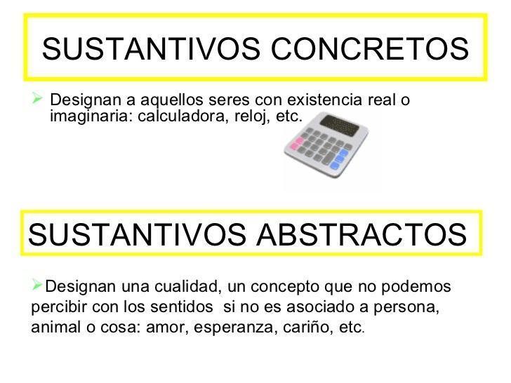 10 Sustantivos Concretos Y 10 Sustantivos Abstractos Brainly Lat