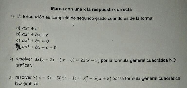 20 puntos. Es de Álgebra, necesito ayuda. es una ecuación cuadràtica ...