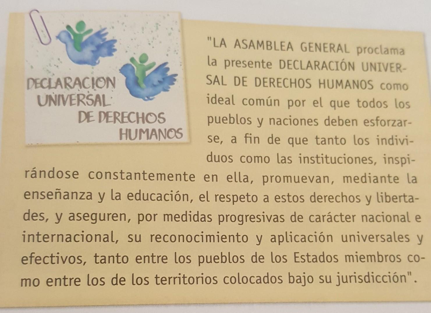 Comenta La Frase De La Declaración Universal De Los Derechos