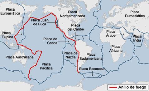 Distribución De Regiones Sísmicas Y Volcánicas