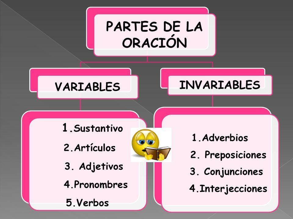 Resultado de imagen para partes variables e invariables de la oracion