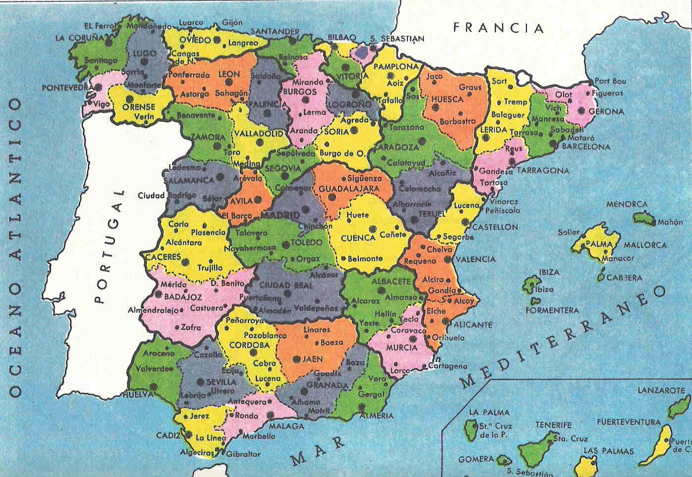 mapa de españa provincias y pueblos , alguien sabe   Brainly.lat