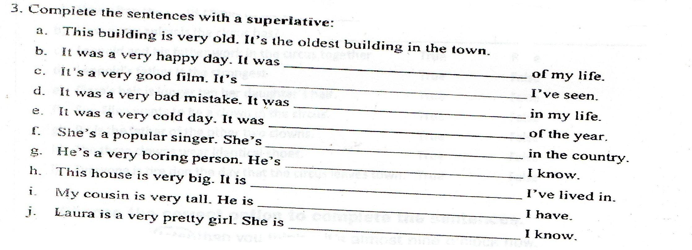 Ayuda Por Favor Amig At S A Completar Las Frases Con Un