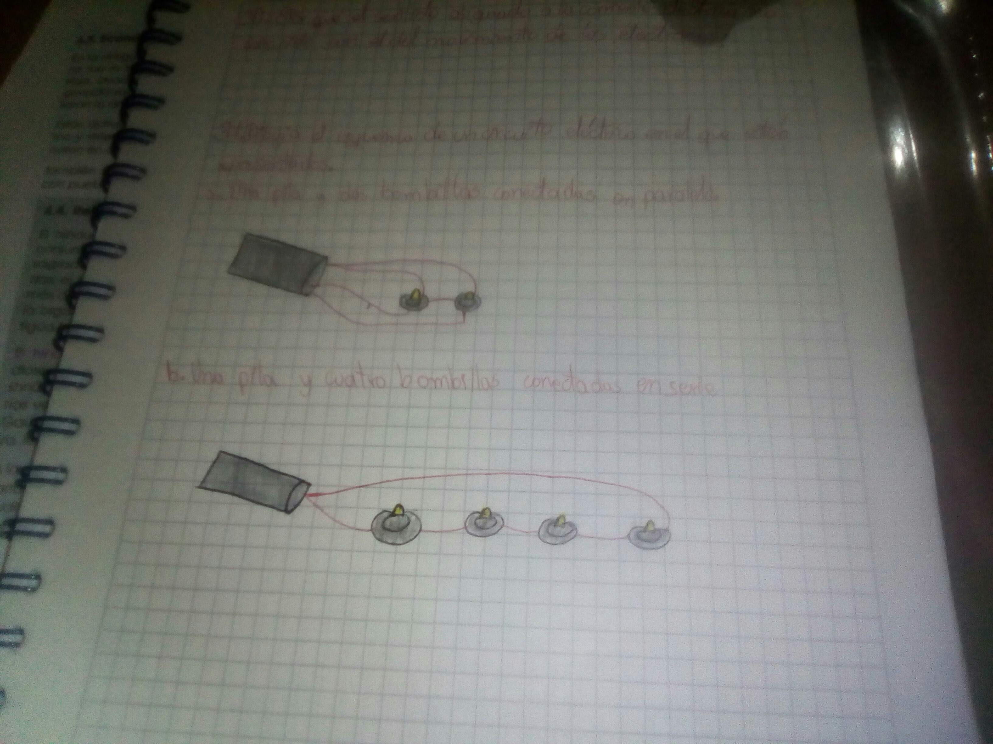 Circuito Electrico En Serie : Dibuja el esquema de un circuito electrico en el que esten