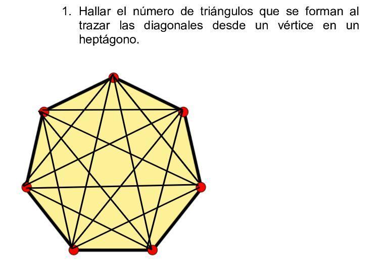 Lo Unico Que Tienes Que Hacer Es Contar Cuantos Triángulos Hay En El Heptágono Brainly Lat