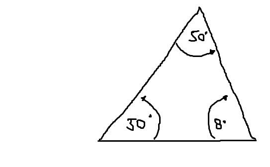 Como Se Hace Un Triangulo De 50 50 Y 80 Grados Brainly Lat