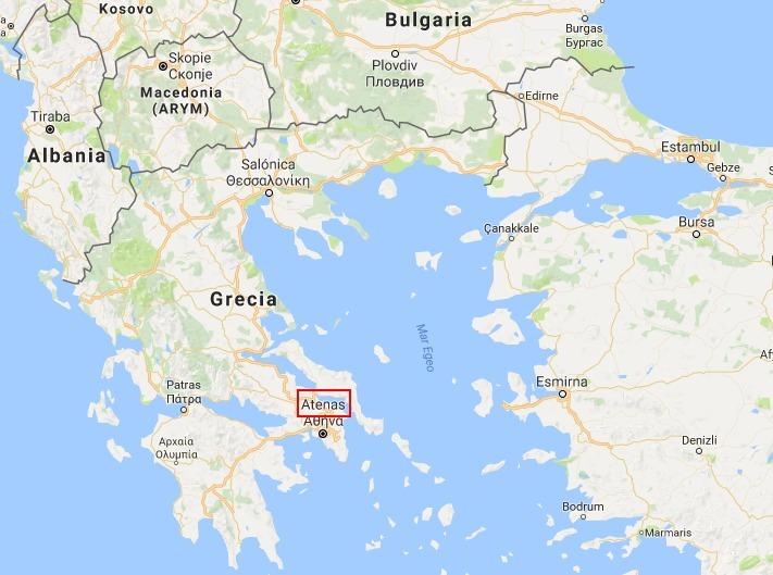 grecia mapa mundo en un mapamundi ubica a grecia y en específico a atenas , si  grecia mapa mundo