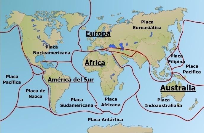 Revisa Un Mapa De Placas Tectonicas Y Escribe Los Nombres Segun