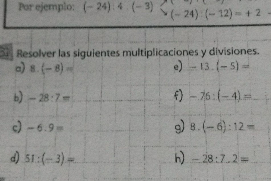 Multiplicacion Y División De Números Enteros Brainly Lat