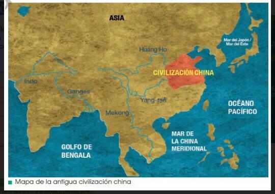 observa el mapa de la antigua civilización china ¿Qué ventajas se pueden  inferir de sus situaciones - Brainly.lat