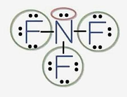 Realice La Estructura De Lewis Para Las Especies Nf3 No2 Y