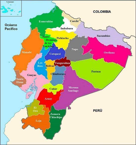 Mapa Politico Del Ecuador Con Sus Provincias Y Capitales Muchas