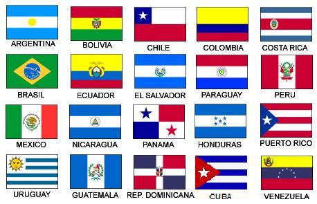 Resultado de imagen de banderas de latinoamérica