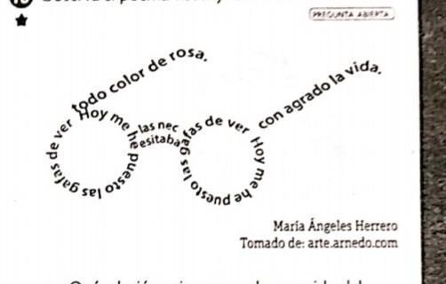 Observa el poema visual y realiza lad actividades a. ¿Qué relación ...