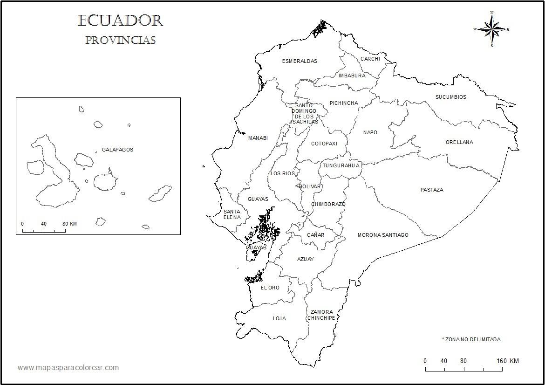 Mapa Fisico Del Ecuador Para Colorear Brainlylat