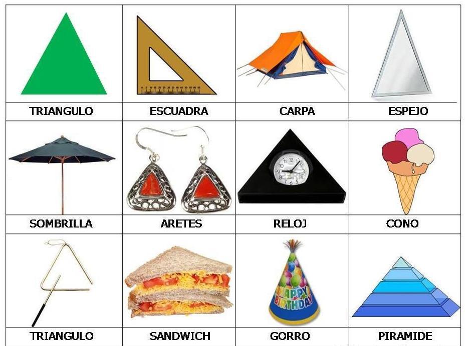 3 Objetos En Forma De Cubo 3 Objetos En Forma De Pirámide Y 3