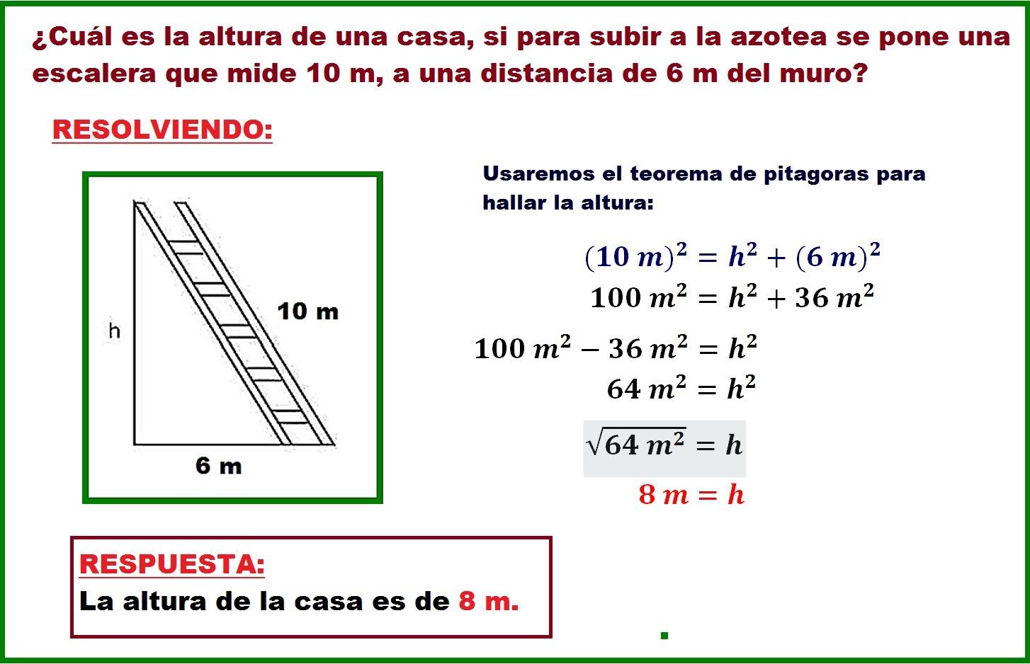 ayuda por favor¿cuál es la altura de una casa, si para subir a la