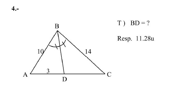 resolucion de triangulos escalenos - Brainly.lat