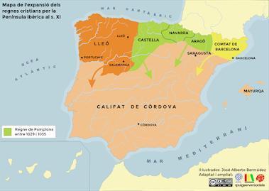 Mapa Reino De Asturias.Iidentifica Los Diferentes Reinos Cristianos Representados En El Mapa Reino De Valencia Reino De Brainly Lat
