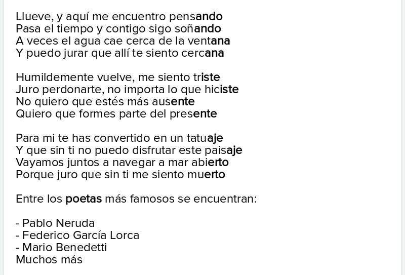 Poema De 3 Estrofas Y Cuatro Versos De Amigo Brainlylat