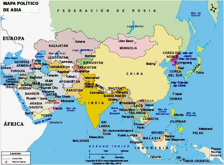 Mapa Actual De Europa Y Asia.Dibuja Un Mapa Con La Division Politica De Europa Y Asia