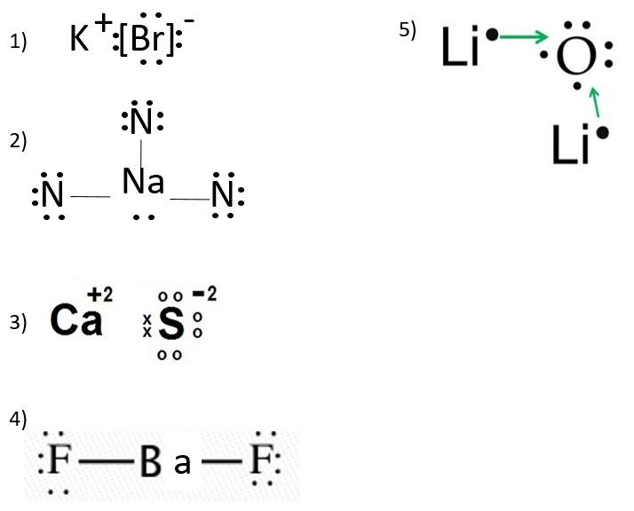 Estructura De Lewis Kbr Na3n Cas Baf2 Nibr3 Li2o Brainly Lat