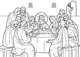 Jesus Y Sus Apostoles Para Colorear Brainlylat