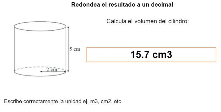 Calcula El Volumen Del Cilindro Hola Se Supone Que La Formula Para Calcular El Volumen De Un Brainly Lat