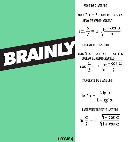 Identidades Trigonometricas Del Angulo Doble Ejercicios Resueltos Brainly Lat