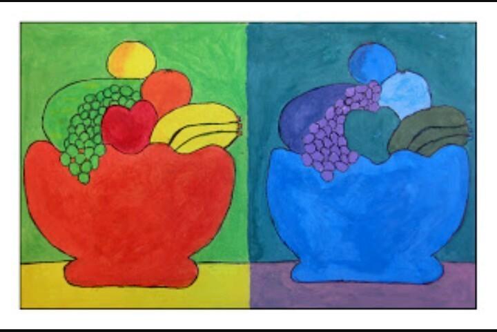 Un Dibujo Que Tenga Los Colores Fríos Y Cálidos Brainlylat
