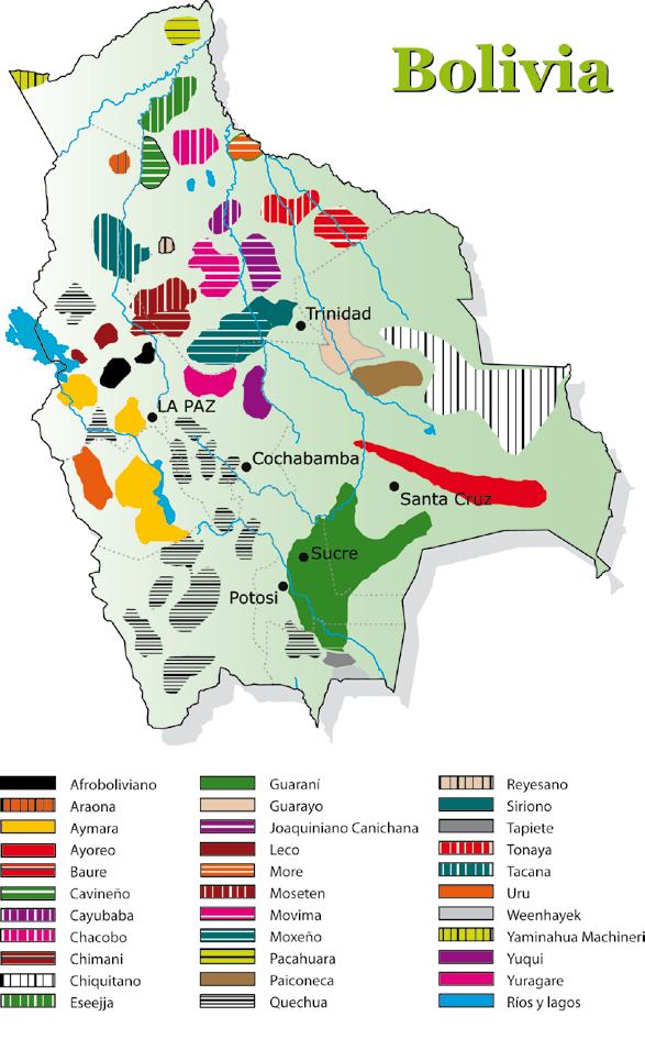 Dibujo de mapa economico de bolivia for Donde queda santa cruz