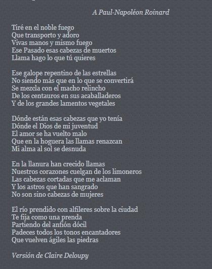 Analisis del poema la hoguera de Guillaume Apollinaire