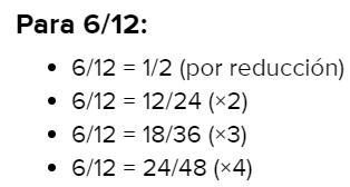 Fracciones Equivalentes A 6 12 Brainly Lat