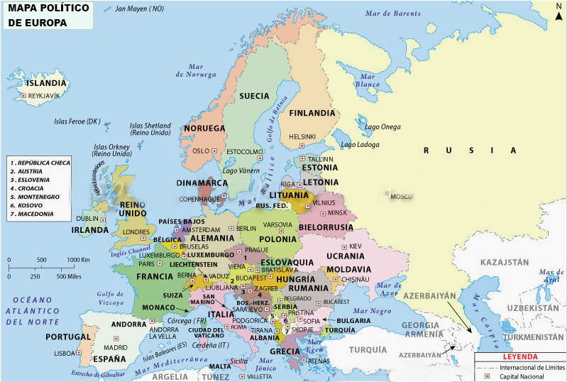 elabora un mapa politico de europa y asia  ayuda porfa  Brainlylat