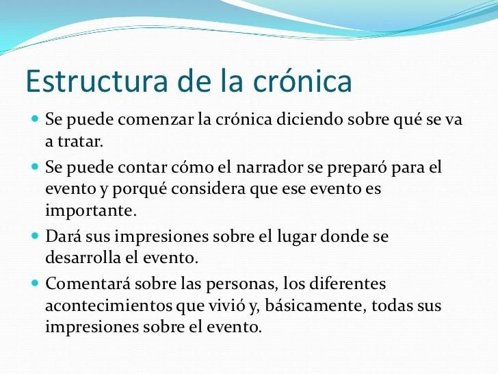 Estructura De La Cronica Brainly Lat