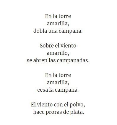 El Poema Campana De Garcia Lorca Indique La Estrofas De