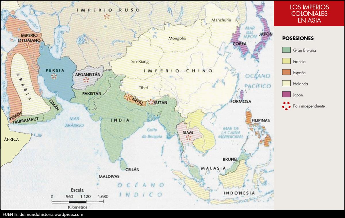 dibuja en un mapa de asia los territorios ocupados por mesopotamia