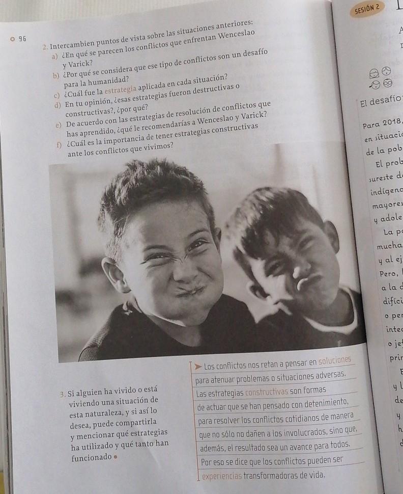 Pag 96 Del Libro De Formacion Civica Y Etica De 6 Grado Contestada Brainly Lat