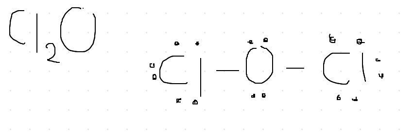 Grafique La Estructura De Lewis Del Oxido De Dicloro Cl2o