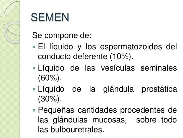 cual es la funcion del semen?¿como esta compuesto? (cienscias ...