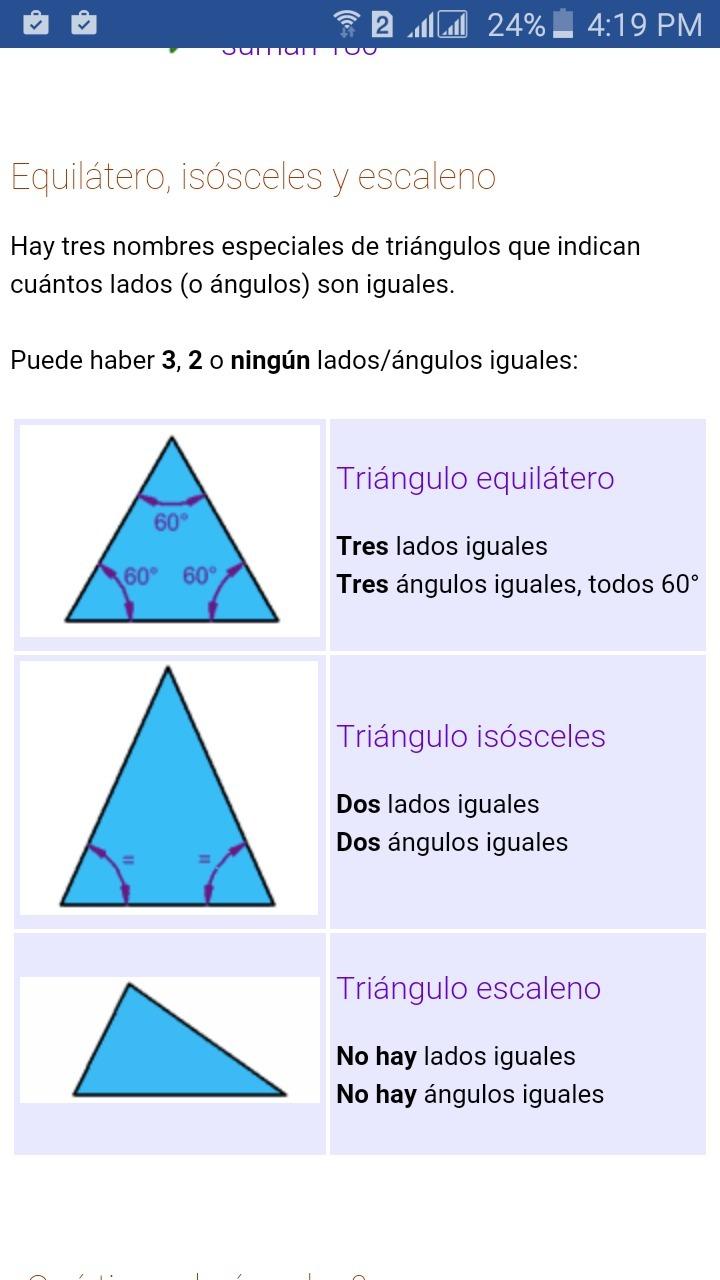 triángulos q tienen un ángulo recto - Brainly.lat