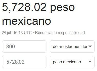 300 Dolares En Pesos Mexicanos