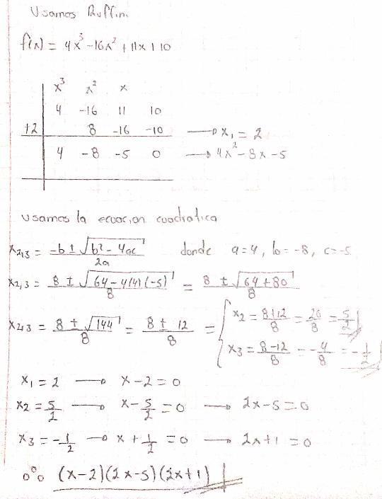 solución de ecuaciones polinomiales de Tercer y cuarto grado [f(x ...