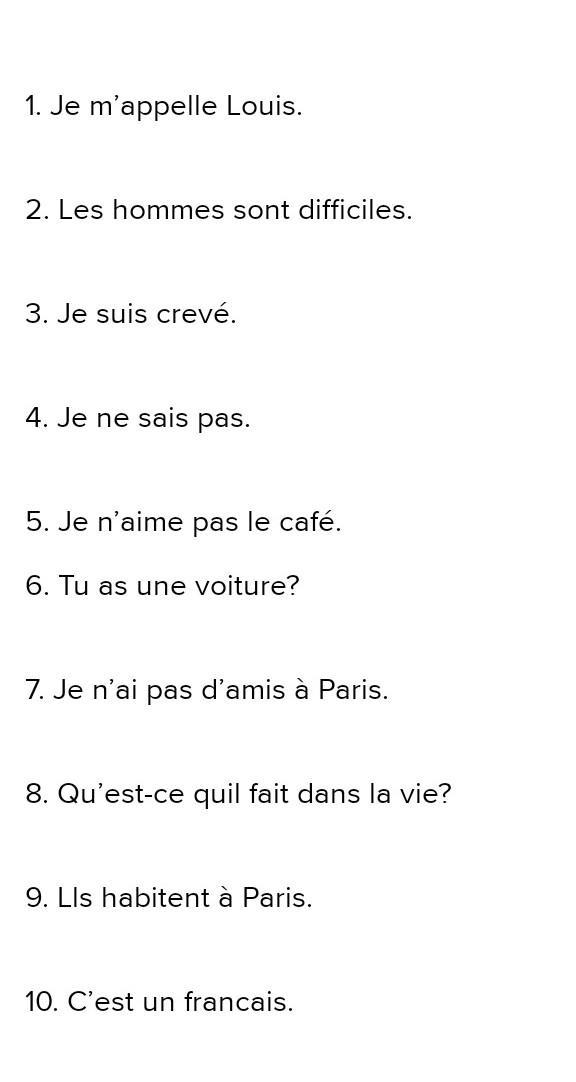 10 Oraciones En Presente Simple En Francés Porfa Brainlylat