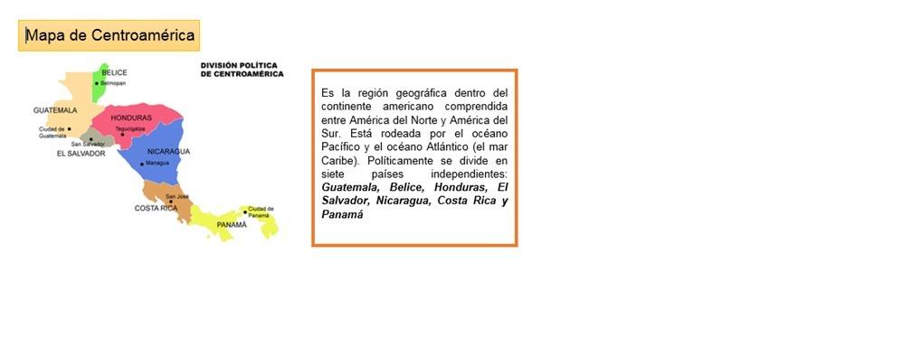 elabora un mapa del caribe y centroamerica y ubica los paises de