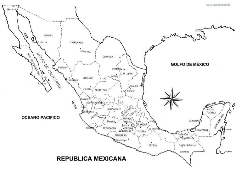 Mapa De La Republica Mexicana Estados Y Capitales Brainlylat