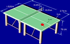 Muestra Un Dibujo De Una Mesa De Ping Pong Con Sus Medidas Brainly Lat