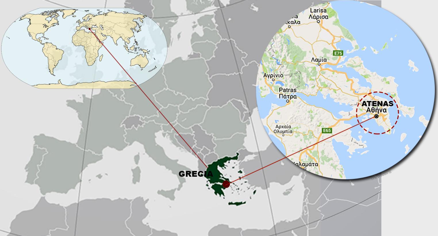 grecia mapa mundo en un maps mundi ubica a grecia y en especifico s atenas   Brainly.lat grecia mapa mundo