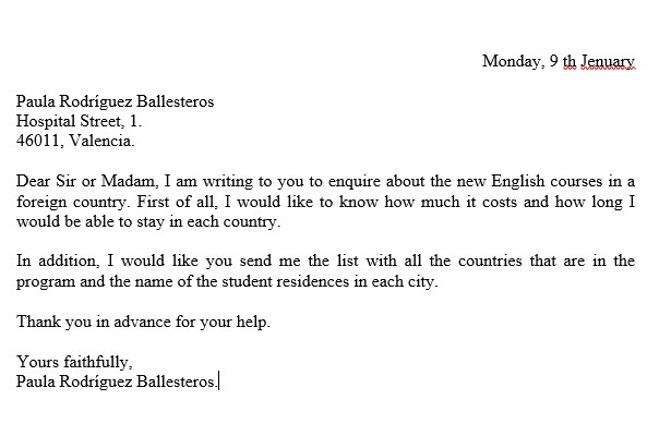 Como Escribir Una Carta Formal En Ingles Por Favor Brainly Lat