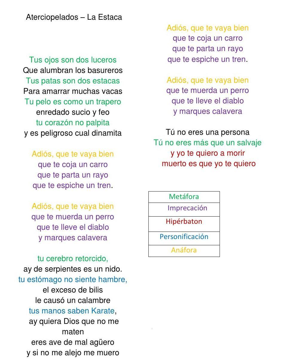 Poemas Con Estrofas Los Versos Rimas Símil Metáfora